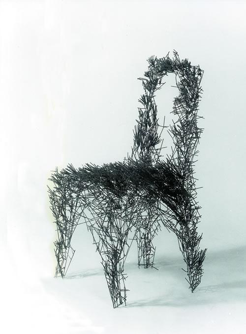Stuhl aus Draht autogen geschweißt