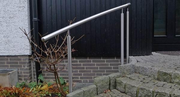 Edelstahl Gelander Fur Einen Eingangsbereich Metallgestaltung