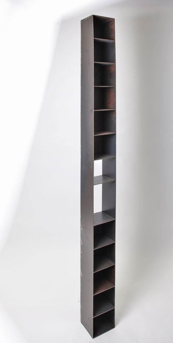 cd regal aus 3 mm stahlblech metallgestaltung. Black Bedroom Furniture Sets. Home Design Ideas