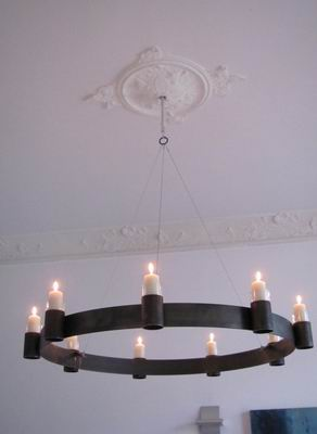 Kronleuchter mit Kerzen | metallgestaltung