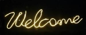 Welcome mit LED Lichtschlauch (1)