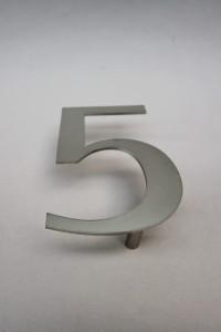 Hausnummer 5 Edelstahl (2)