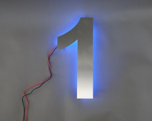 Hausnummer blaue LED (2)