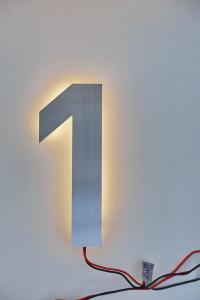 LED Hausnummer 1