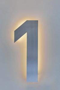LED Hausnummer 3