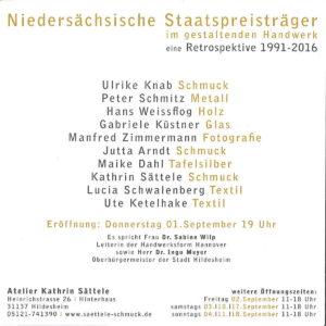 Niedersächsischer Staatspreis Einladung Rückseite